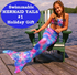 AUTHENTIC SPARKLY MERMAID TAIL - with side zipper