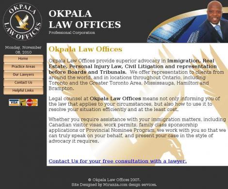 Okpala Law Offices Professional Corporation • Hamilton • Ontario •