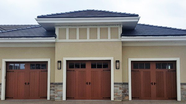 Three door garage door
