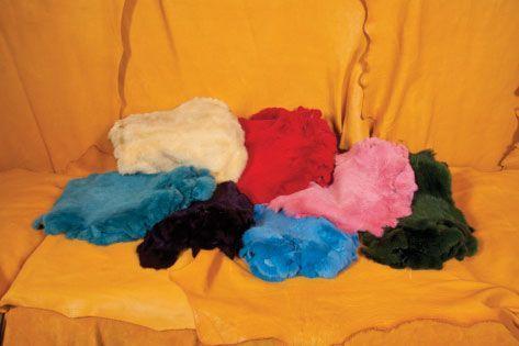 Dyed Coloured Rabbit Pelt