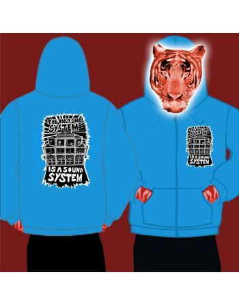 Printing Mens Zipped Hoody The Only Good System Is A Sound S
