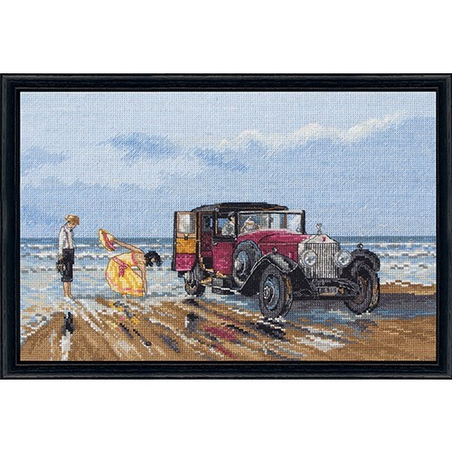 Vintage Rools on the Beach Count Cross Stitch
