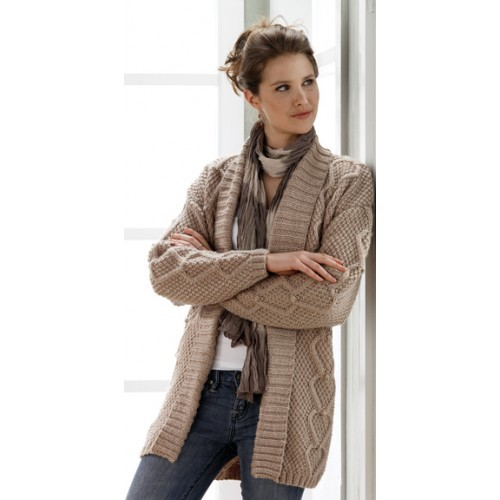"Long Textured Cardigan Sizes 40-42, 44-46 (47.5, 51"")Options: Long Textured Cardigan Sizes 40-42, 44"