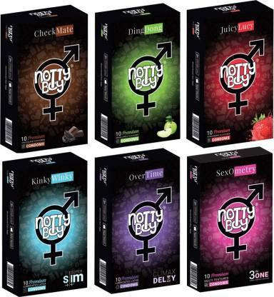 NottyBoy Honeymoon Pack of Condoms - Condom Family Pack