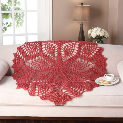Lace Pineapple ThrowOptions: Lace Pineapple Throw