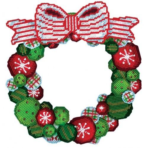 Ornament Wreath Plastic Canvas Kit