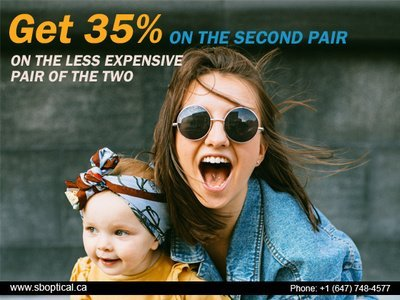 Now Get an Exclusive Offer on Eyeglasses - SB Optical