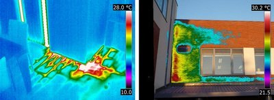 Thermographic Water Leak Detection