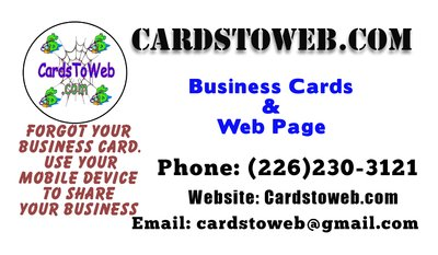 500 business cards with webpage