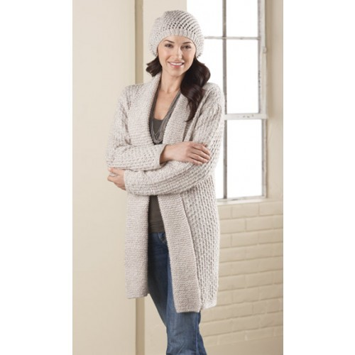 """Long Cardigan and Hat Size 32-34 (36"""")Options: Long Cardigan and Hat Size 32-34 (36"""")"""