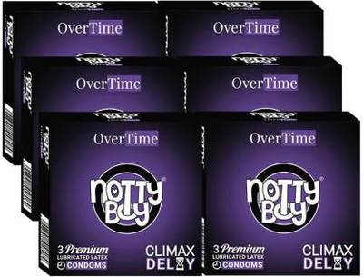 NottyBoy Climax Delay Condoms Online - Pack of 18 Condoms